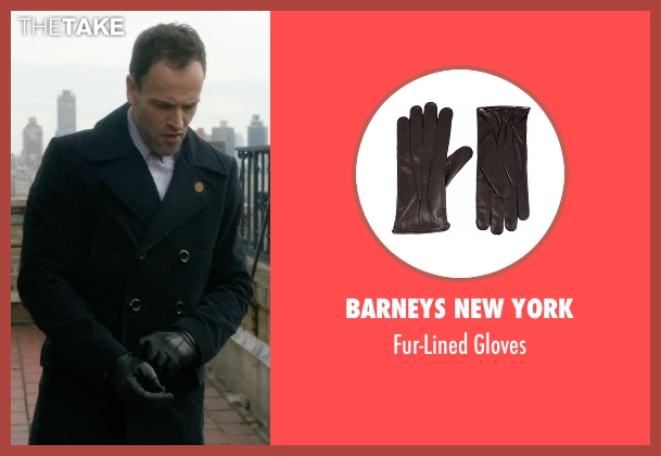 Barneys New York black gloves from Elementary seen with Sherlock Holmes (Jonny Lee Miller)
