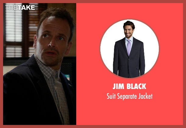 Jim Black black jacket from Elementary seen with Sherlock Holmes (Jonny Lee Miller)