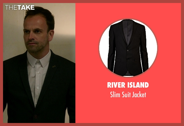River Island black jacket from Elementary seen with Sherlock Holmes (Jonny Lee Miller)