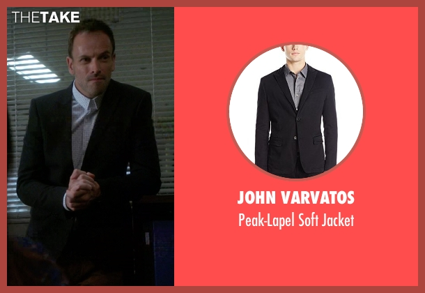 John Varvatos black jacket from Elementary seen with Sherlock Holmes (Jonny Lee Miller)