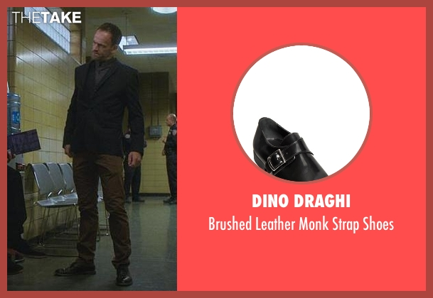 Dino Draghi black shoes from Elementary seen with Sherlock Holmes (Jonny Lee Miller)