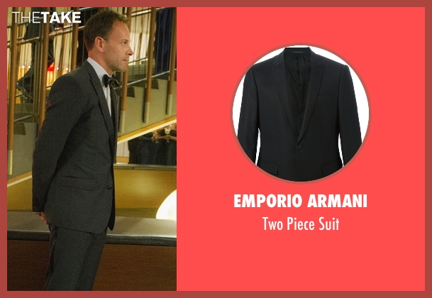 Emporio Armani black suit from Elementary seen with Sherlock Holmes (Jonny Lee Miller)