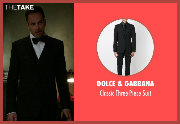 Dolce & Gabbana black suit from Elementary seen with Sherlock Holmes (Jonny Lee Miller)