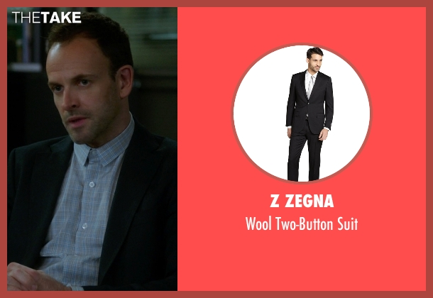 Z Zegna black suit from Elementary seen with Sherlock Holmes (Jonny Lee Miller)