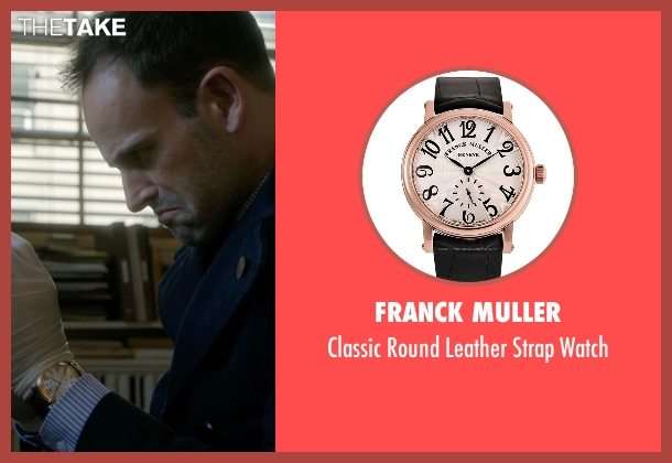 Franck Muller black watch from Elementary seen with Sherlock Holmes (Jonny Lee Miller)
