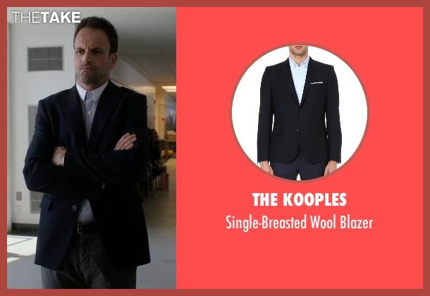 The Kooples blue blazer from Elementary seen with Sherlock Holmes (Jonny Lee Miller)