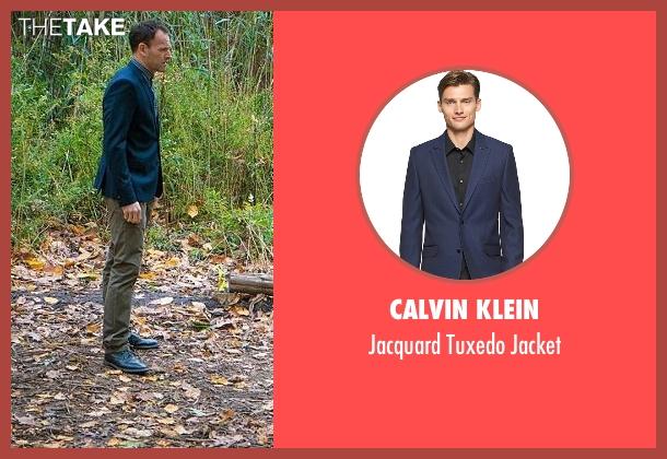 Calvin Klein blue jacket from Elementary seen with Sherlock Holmes (Jonny Lee Miller)