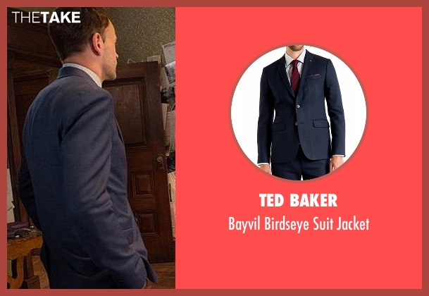 Ted Baker blue jacket from Elementary seen with Sherlock Holmes (Jonny Lee Miller)