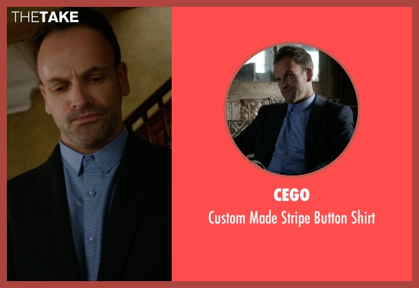 Cego blue shirt from Elementary seen with Sherlock Holmes (Jonny Lee Miller)