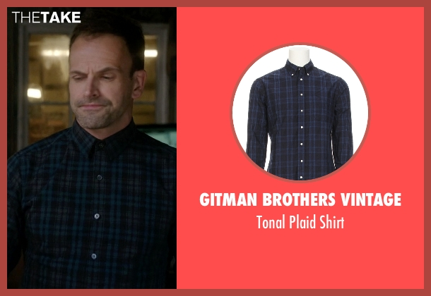 Gitman Brothers Vintage blue shirt from Elementary seen with Sherlock Holmes (Jonny Lee Miller)