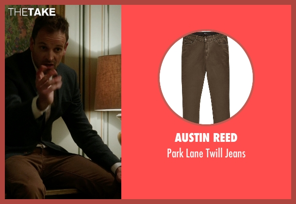 Austin Reed brown jeans from Elementary seen with Sherlock Holmes (Jonny Lee Miller)