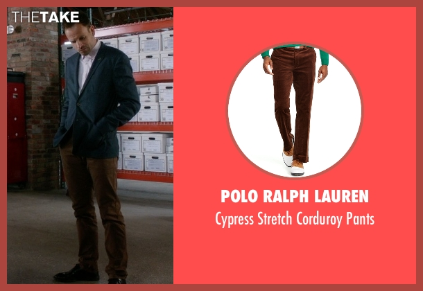 Polo Ralph Lauren brown pants from Elementary seen with Sherlock Holmes (Jonny Lee Miller)