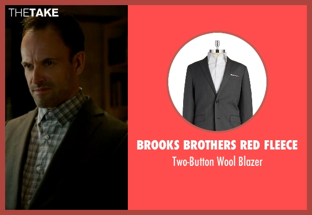 Brooks Brothers Red Fleece gray blazer from Elementary seen with Sherlock Holmes (Jonny Lee Miller)