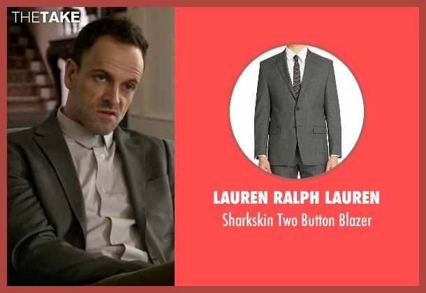Lauren Ralph Lauren gray blazer from Elementary seen with Sherlock Holmes (Jonny Lee Miller)