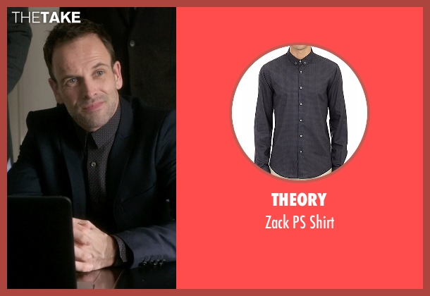 Theory gray shirt from Elementary seen with Sherlock Holmes (Jonny Lee Miller)
