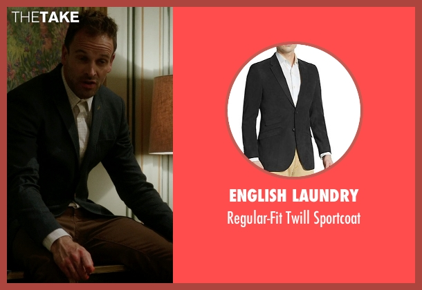 English Laundry gray sportcoat from Elementary seen with Sherlock Holmes (Jonny Lee Miller)