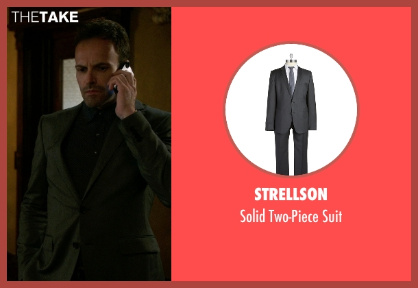 Strellson gray suit from Elementary seen with Sherlock Holmes (Jonny Lee Miller)