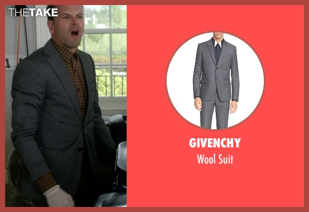 Givenchy gray suit from Elementary seen with Sherlock Holmes (Jonny Lee Miller)