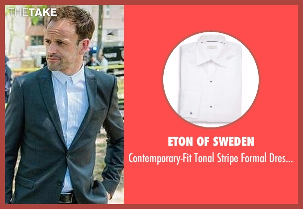 Eton of Sweden white shirt from Elementary seen with Sherlock Holmes (Jonny Lee Miller)