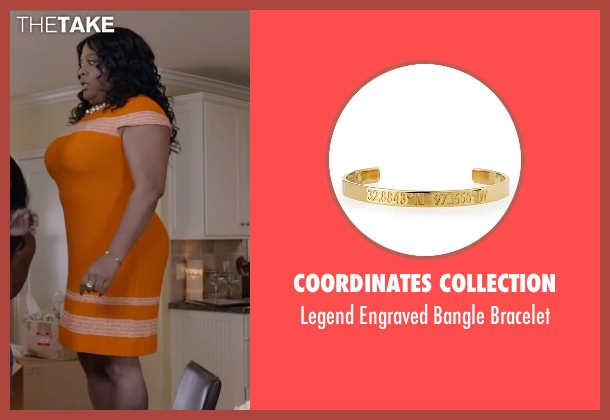 Coordinates Collection gold bracelet from Ride Along 2 seen with Sherri Shepherd (Cori)