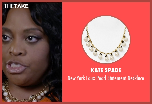 Kate Spade gold necklace from Ride Along 2 seen with Sherri Shepherd (Cori)