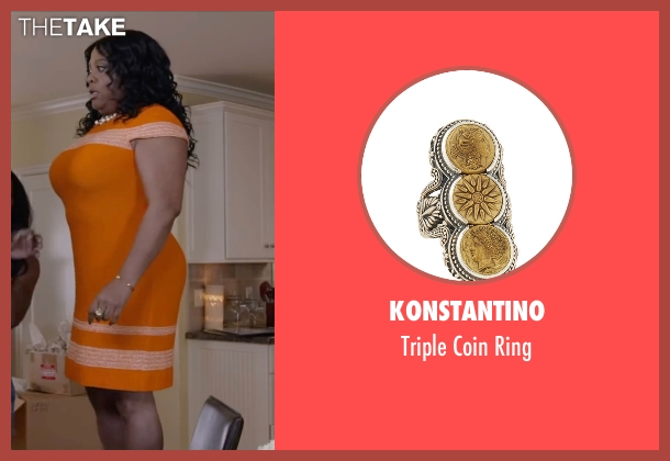 Konstantino gold ring from Ride Along 2 seen with Sherri Shepherd (Cori)