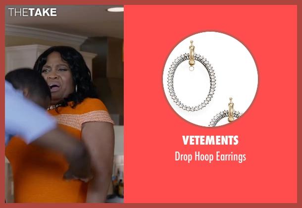 Vetements silver earrings from Ride Along 2 seen with Sherri Shepherd (Cori)
