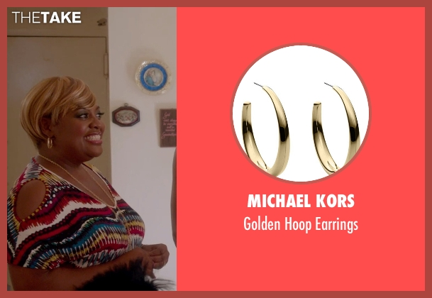 Michael Kors gold earrings from Top Five seen with Sherri Shepherd (Vanessa)