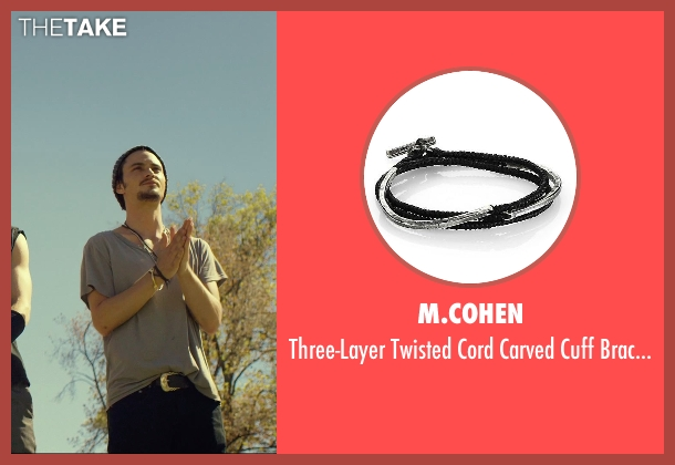 M.Cohen black bracelet from We Are Your Friends seen with Shiloh Fernandez (Ollie)