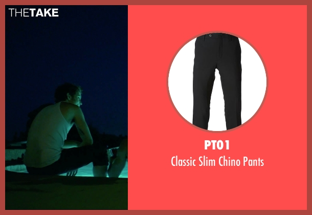 PT01 black pants from We Are Your Friends seen with Shiloh Fernandez (Ollie)