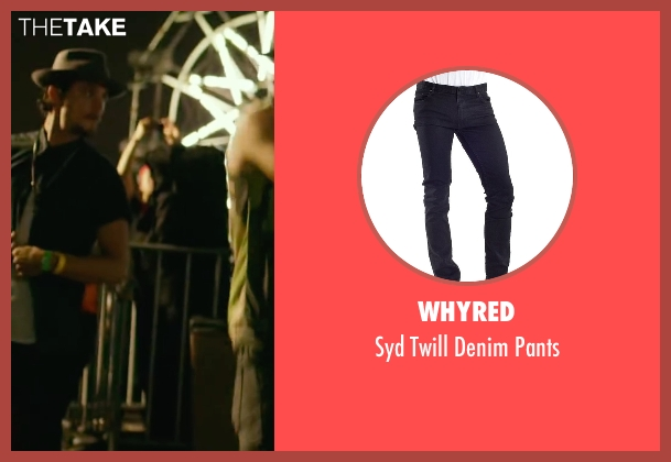 Whyred black pants from We Are Your Friends seen with Shiloh Fernandez (Ollie)