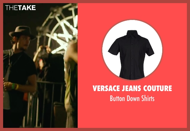 Versace Jeans Couture black shirts from We Are Your Friends seen with Shiloh Fernandez (Ollie)