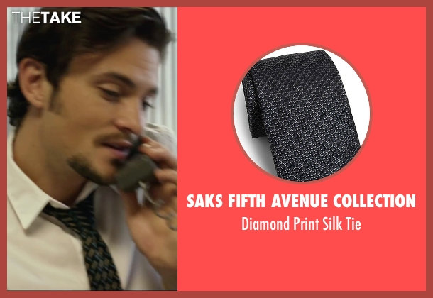 Saks Fifth Avenue Collection black tie from We Are Your Friends seen with Shiloh Fernandez (Ollie)