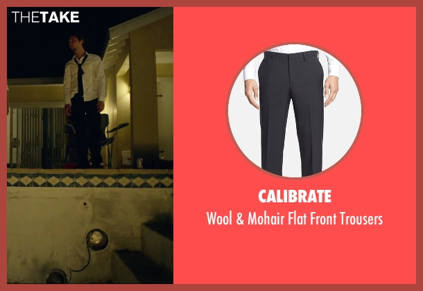 Calibrate black trousers from We Are Your Friends seen with Shiloh Fernandez (Ollie)