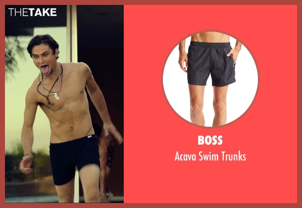 Boss black trunks from We Are Your Friends seen with Shiloh Fernandez (Ollie)