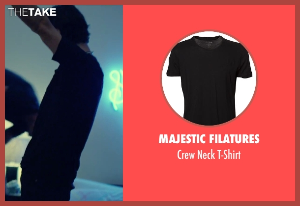 Majestic Filatures black t-shirt from We Are Your Friends seen with Shiloh Fernandez (Ollie)