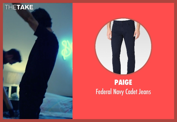 Paige blue jeans from We Are Your Friends seen with Shiloh Fernandez (Ollie)