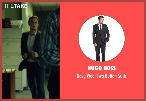 Hugo Boss blue suits from We Are Your Friends seen with Shiloh Fernandez (Ollie)