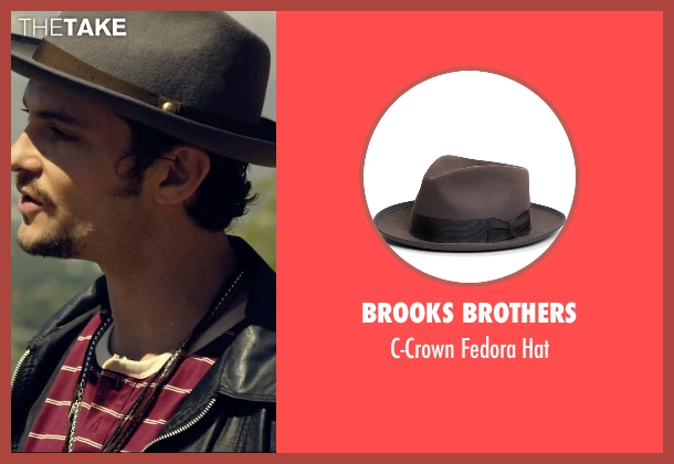 Brooks Brothers gray hat from We Are Your Friends seen with Shiloh Fernandez (Ollie)
