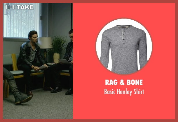 Rag & Bone gray shirt from We Are Your Friends seen with Shiloh Fernandez (Ollie)