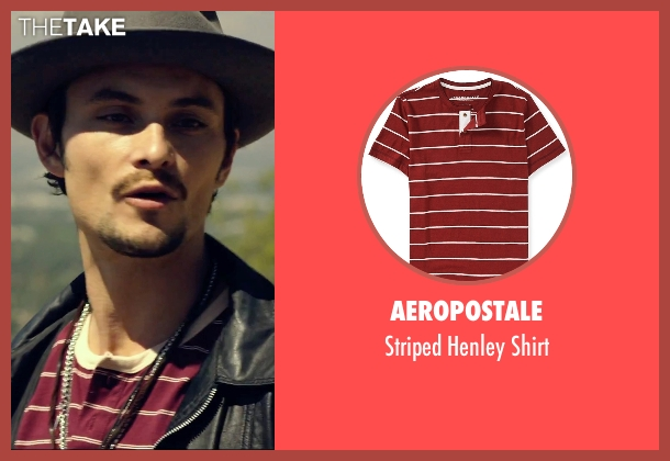 Aeropostale red shirt from We Are Your Friends seen with Shiloh Fernandez (Ollie)