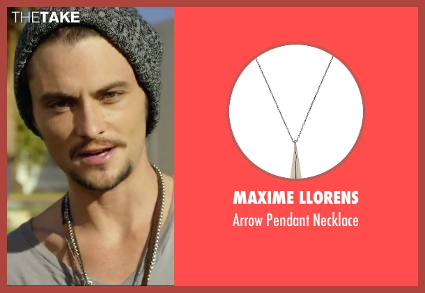 Maxime Llorens silver necklace from We Are Your Friends seen with Shiloh Fernandez (Ollie)