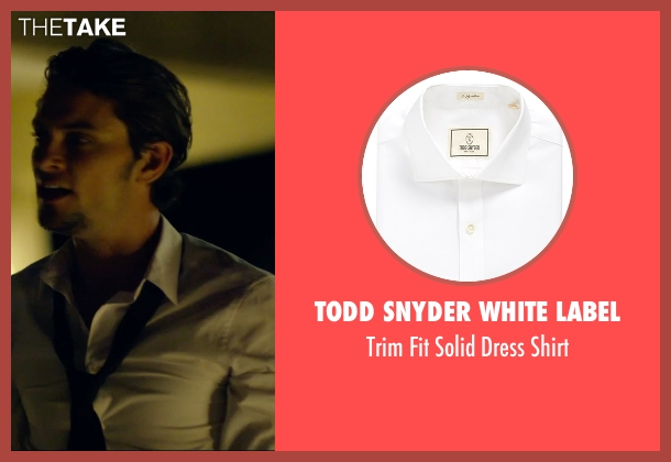 Todd Snyder White Label white shirt from We Are Your Friends seen with Shiloh Fernandez (Ollie)