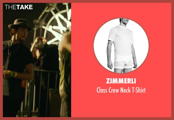 Zimmerli white t-shirt from We Are Your Friends seen with Shiloh Fernandez (Ollie)