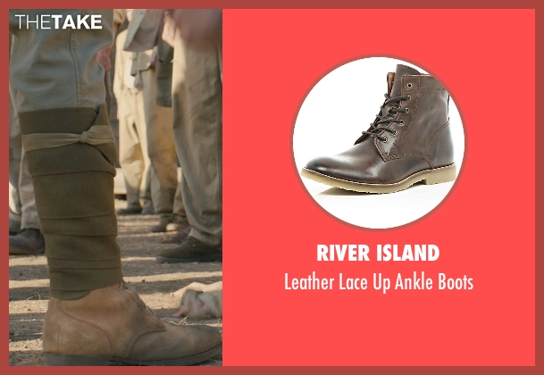 River Island brown boots from Unbroken seen with Shingo Usami (Corporal Kono)