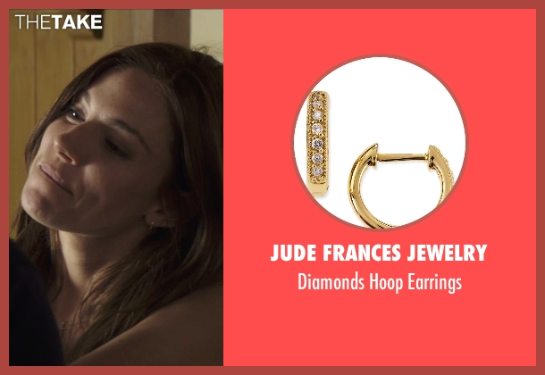 Jude Frances Jewelry gold earrings from American Sniper seen with Sienna Miller (Taya)