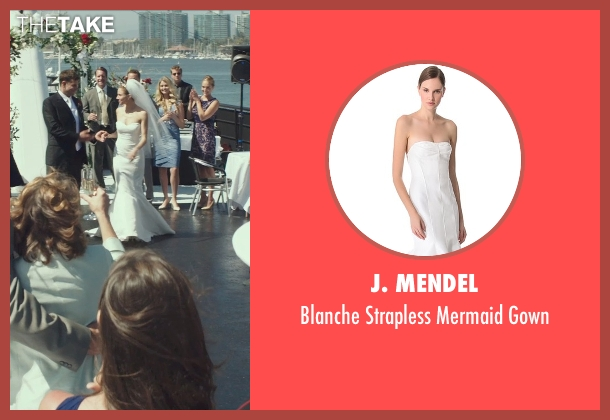 J. Mendel white gown from American Sniper seen with Sienna Miller (Taya)