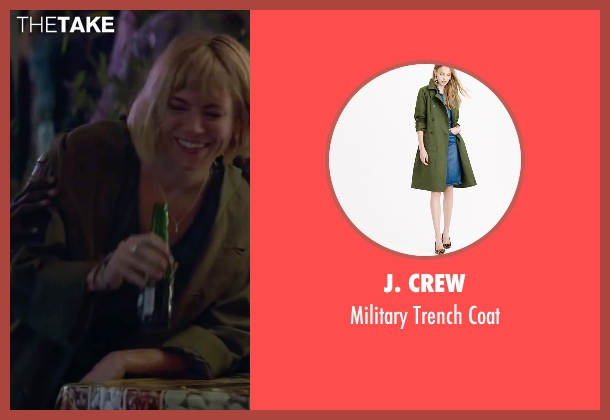 J. Crew green coat from Burnt seen with Sienna Miller (Helene)