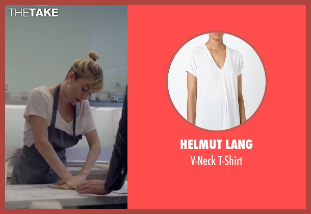 Helmut Lang white t-shirt from Burnt seen with Sienna Miller (Helene)