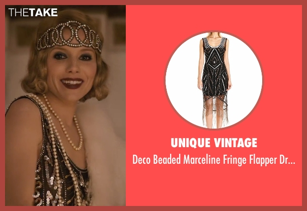 Unique Vintage black dress from Live By Night seen with Sienna Miller (Emma Gould)